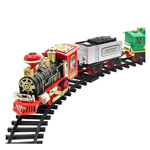 Authentische Pigment-pigment (Elektrische Orbit-Zug-Spielzeug-Set, Modelleisenbahn, Spielzeug, wiederaufladbar, klassischer Dampflokom-Spielzeug, mit echtem Rauch, authentischen Lichtern und Geräuschen für Kinder)