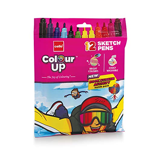 Cello ColourUp Sketch Pens - 12 Shades