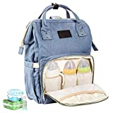 Diaper Bag Backpack Multi-Function Large Capacity Waterproof Travel Stylish Nappy Changing Bags Canvas