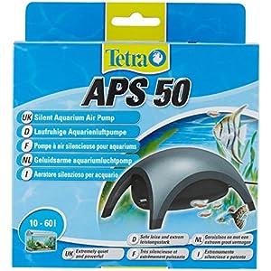 [Gesponsert]Tetra APS 50 Aquarienluftpumpe Luftpumpe Membranpumpe für Aquarien (sehr leise laufruhig leistungsstark, mit Lufthahn zur Kontrolle des Luftstroms)