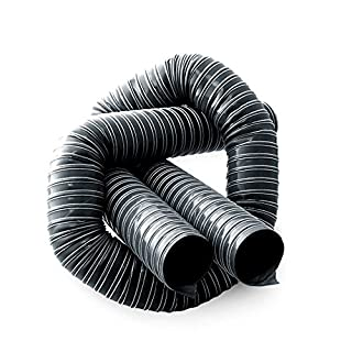 80mm ID 1 Metre Length 2 PLY Black Neoprene Ducting - AutoSiliconeHoses