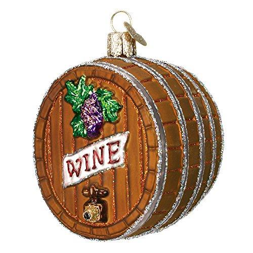 n Erwachsene Party Getränk Glas geblasen Ornament Wine Barrel ()