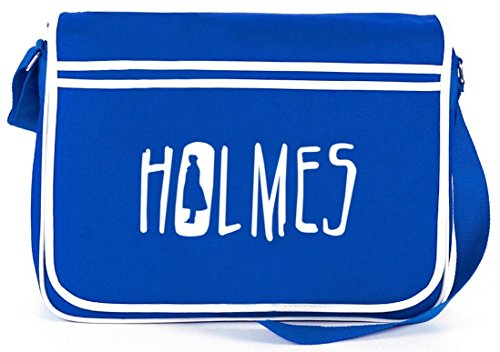 Shirtstreet24, HOLMES, Retro Messenger Bag Kuriertasche Umhängetasche Royal Blau