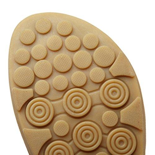 Fortuning's JDS Comfort ammortizzata sandali cinturino alla caviglia elastico delle donne Nero
