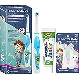 wellsamed FUNNYCLEAN for Boys SPAR-SET elektrische Kinderzahnbürste for Kids Batterie-Zahnbürste Kinder...