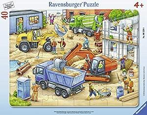 Ravensburger Puzzle 06120-Grandes Obras Vehículos 40Piezas Marco Puzzle