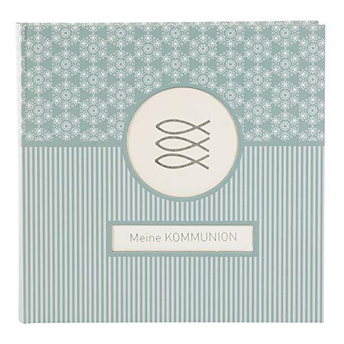 Goldbuch Fotoalbum für die Kommunion, Mandala, 25x25 cm, 60 weiße Seiten, 4 Seiten Textvorspann, Kunstdruck, Weiß/Türkis, 03 142