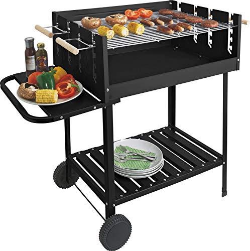 Grillwagen aus Stahl, rechteckig, für draußen, für BBQ-Party, Party, Grill, Grill, Grill, Grill, Grill, Party, Grill, etc. - Rechteckige Stahl