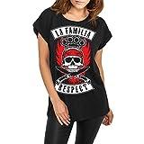 Spaß kostet Frauen und Girls Tshirt La Familia Respect (mit Rückendruck)