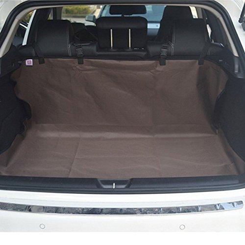 Braun Cabrio Leder (PETCUTE Hund Boot Ladung Liner Hinten Autoabdeckung Haustier Rücksitzbank Bett Bodenmatte Hängematte Rutschfeste Wasserdicht Universal SUV LKW Jeeps Vans Braun)