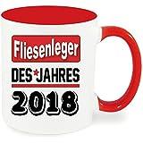 Henkelbecher XXL 450ml Rot Berufetasse 2018