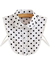 Élégant en mousseline de soie collier détachable faux collier femmes faux chemise col pour le chandail, D