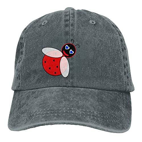 What A Cute Ladybug Denim Hat Adjustable Female Washed Baseball Cap