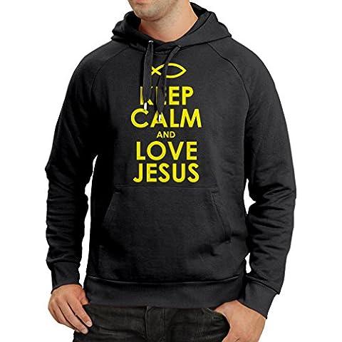 Sudadera con capucha Love Jesus regalos cristianos