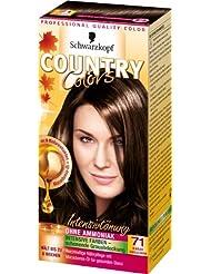 Schwarzkopf Country Colors Intensivtönung, 71 Kakao Dunkelgoldbraun, 3er Pack (3 x 123 ml)