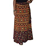 Printed Indian Long Skirt Wrap Around Wo...