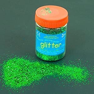 Anthony Peters Green Art and Craft - Purpurina (100 g), Color Verde