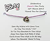 10 x Personalised Hen Night Wish Bracelets Hen Party Wish Bracelets Favours/Gifts (purple)