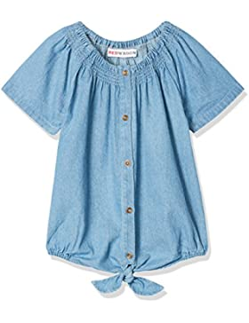 RED WAGON Camicia in Chambray con Nodo Bambina