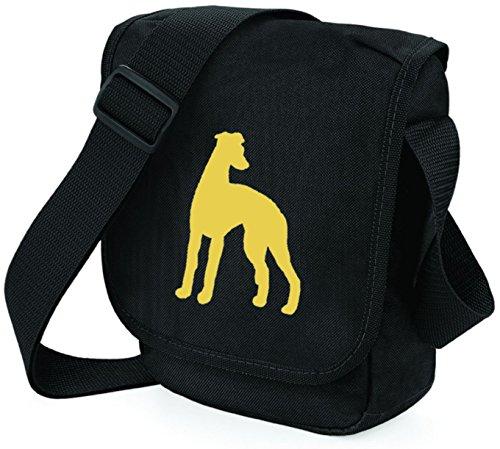 Bag Pixie - Borsa a tracolla unisex adulti Fawn Dog Black Bag