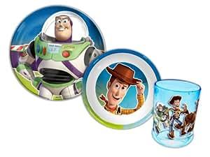 Toy Story 3 Couverts vaisselle dont assiette, bol et gobelet