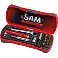SAM E 125 J21 Toolbox with 16 High-Performance Titanium Screwdriver Heads and 5 Screwdriver Head Cases preiswert