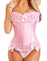 fd13d15f7e Amazon.co.uk  Pink - Bustiers   Corsets   Lingerie   Underwear  Clothing