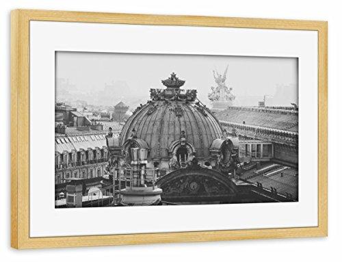 artboxONE Poster mit Rahmen Kiefer 60x40 cm Opera GARNIER, Paris von Marc Aurelius - gerahmtes Poster