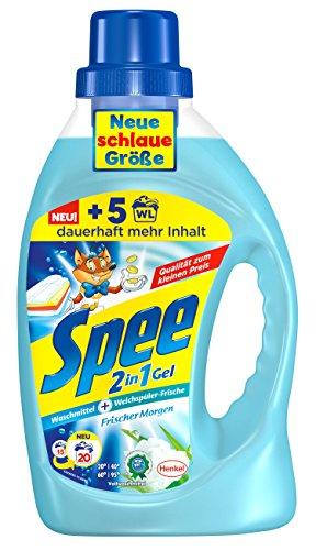 Spee 2in1 Gel Frischer Morgen, 4er Pack (4 x 20 Waschladungen)
