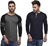 #5: Wrodss Combo Men's Cotton Full Sleeve Designer Slim Fit Premium T-Shirt