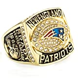 FNJED Herren Ringe New Golden 2007 Patriot Champion Ringe Rostfreier Stahl Ringe,Größe 62 (19.7)