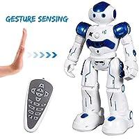 SGILE Kids Remote Control Robot Toy - Programmable Interactive Walking Singing Dancing Smart Robotics - RC LED Combat Fun Robotic Boys Birthday, Gift Set