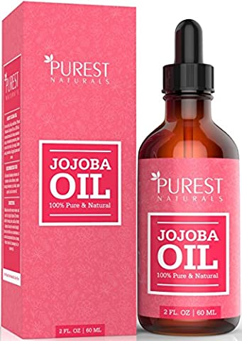 Purest Naturals Organic Jojoba Oil - Best Carrier Oil For Face, Skin, Hair & Nails + Sensitive & Dry Skin - Key Nutrients, Fatty Acids & Vitamins C & E - Unrefined, Cold Pressed & 100%