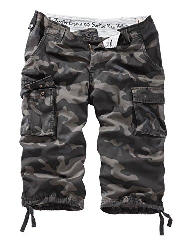 Surplus Trooper Legend pantaloncini a 3/4 da uomo Nero camo