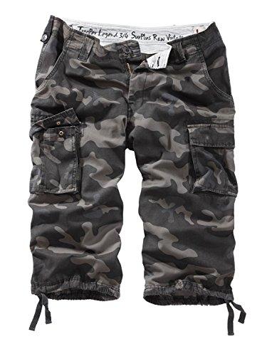 Surplus Trooper Legend 3/4 Shorts M Schwarz Camouflage (Herren-shorts Army)