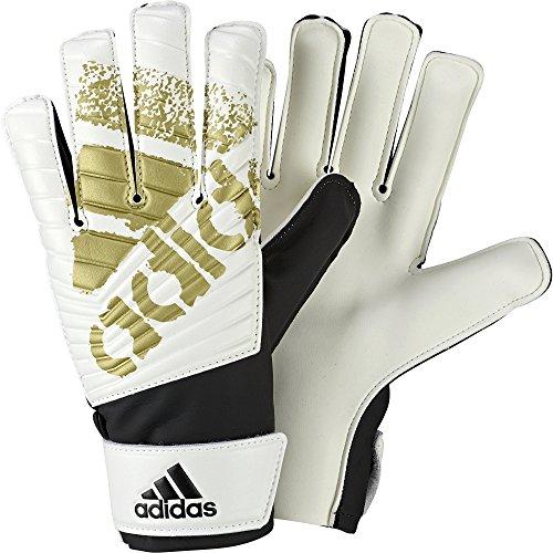 adidas Erwachsene X Lite Torwarthandschuhe, Black/White/Gold Met, 10