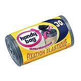 Handy Bag, 3557880353391, Sacchetti per la spazzatura con maniglie scorrevoli a nastro e chiusura elastica, 30 L, 53 x 63 cm, 2 pacchi da 15 pz.