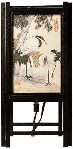 ORIENTAL FURNITURE Interessantes Geschenk sie ihn Teen Kinder, 14-Zoll-japanisches Holz und Papier Elektrische Laterne/Lampe, Cranes Entwurf
