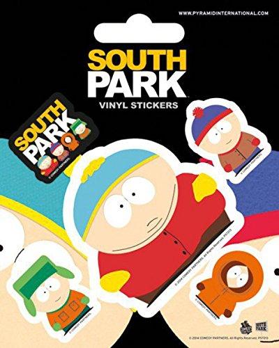 Preisvergleich Produktbild 1art1 80749 South Park - Cartman,  Kenny,  Stan Und Kyle,  Vinyl Sticker Set Poster-Sticker Tattoo Aufkleber 12 x 10 cm