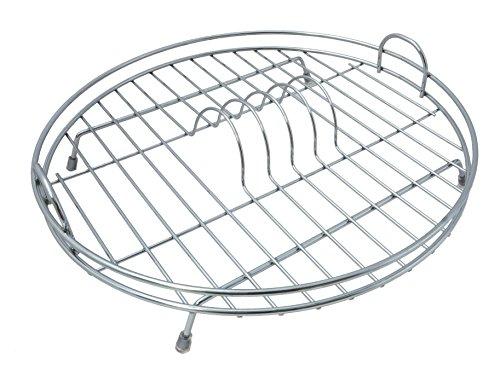 Delfinware Abtropfgestell für Teller, rund, verchromt