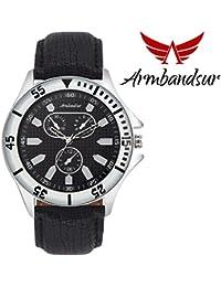 Armbandsur chronograph look black watch- ABS0073BBB