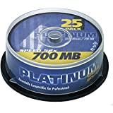 Platinum 102565 Spindle of 25 CD-R Blank Discs 80 Min 52x 700MB