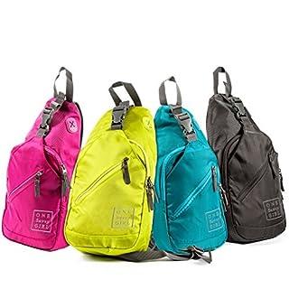 One Savvy Girl Sling-Rucksack für Frauen - Komfortabel und Stilvoll Schulter Rucksäcke mit Mehreren Fächern und Kopfhörerkabel acces Blau