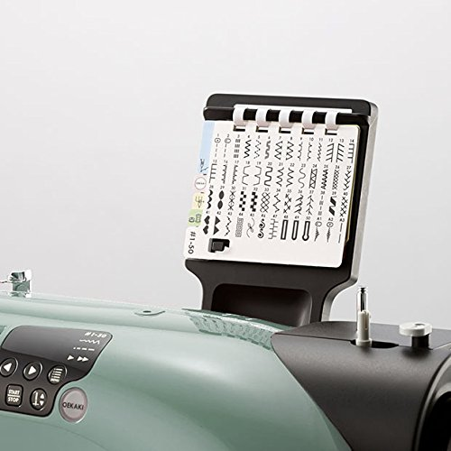 Toyota Oekaki50G Kreativ Freiarm Nähmaschine Oekaki mit 50 Programmen und Freihandstickfunktion, grün -