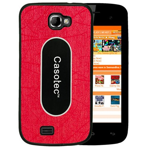 Casotec Metal Back TPU Back Case Cover for Micromax Canvas Engage A091 - Red  available at amazon for Rs.175
