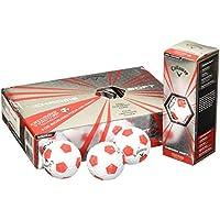 Callaway Chrome Soft X Truvis Bolas de Golf, Unisex Adulto, Rojo/Blanco, Talla Única