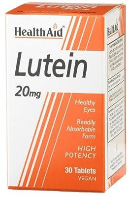 HealthAid Lutein 20mg - Carotenoid - 30 Vegan Tablets