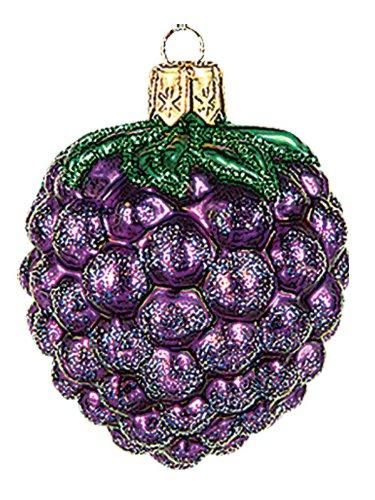 Pinnacle Mini BlackBerry Polish Blown Glass Christmas Ornament Berry Tree Decoration 002 Blackberry