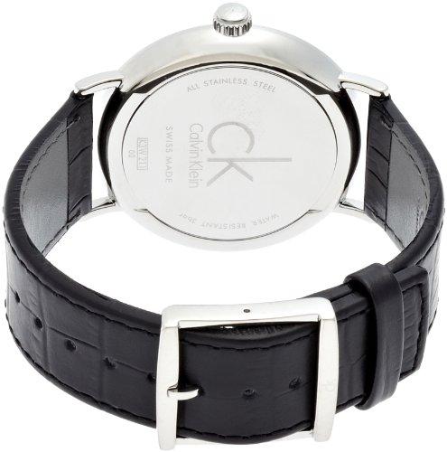 Calvin Klein Herren-Armbanduhr XL ck surround Analog Quarz Leder K3W211C1 - 2