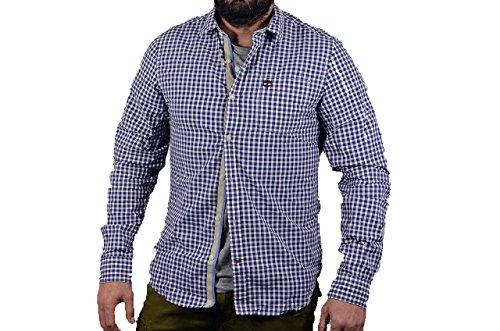Timberland uomo camicia manica lunga 0yfdd c01 l bianco-blu